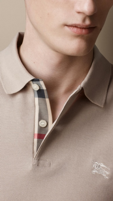 CHECK PLACKET POLO SHIRT - TRENCH